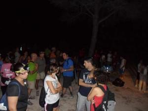 110 persones participen en la 3a Ruta senderista nocturna de l'Olleria