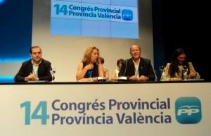 Filiberto Tortosa i els polítics de la Vall d'Albaida, en la segona fila del nou Comité Provincial del PP de Rus