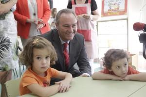 El President de la Generalitat inaugura el curs escolar 2012/2013 al col·legi Rafael Altamira de Quatretonda