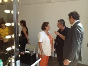 La alcaldesa inaugura la plaza de la Moda de El Corte Inglés previa de la Valencia Fashion Week