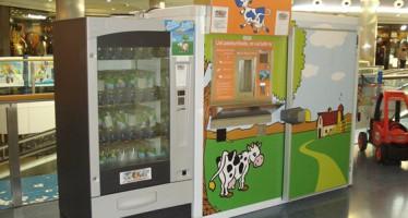 El CC El Saler instala la primera máquina expendedora de leche fresca de la ciudad de Valencia