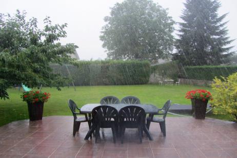 Aislar jardín de la lluvia