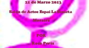 """Charla-coloquio """"Políticas en Igualdad"""" a cargo de Rosa Peris"""