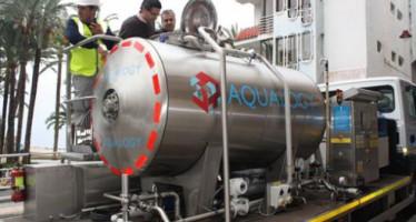 Un novedoso sistema de limpieza de tuberías de agua potable mediante hielo líquido es utilizado  en Benidorm