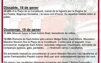 Festa Sant Antoni Abat 2014 en Turís