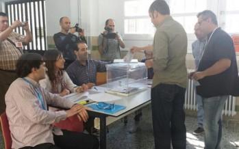 Vicent Xavier Vila y Joano Gilabert han ejercido su derecho al voto @Com_x_Ontinyent