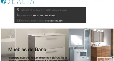 Dos emprendedores valencianos abren Asealia, punto de venta online de mobiliario de baño