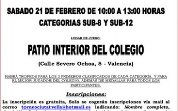 Torneo de Ajedrez de San José de Calasanz – Escolapios Valencia