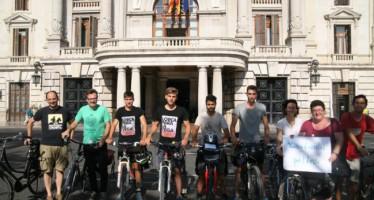 Grezzi recibió a los ciclistas del movimiento Interhuertas Pedaladas por la Vega