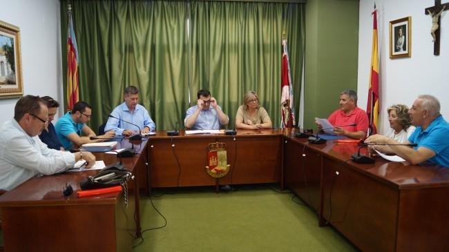 Salón de plenos del ayuntamiento de Cofrentes