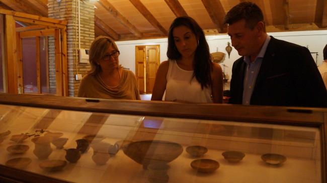 Peris, López y Aguar en el museo de Caudete de las Fuentes