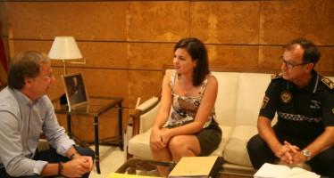 Ayuntamiento, Delegación de Gobierno y PLV abordan el botellón y la recuperación de El Cabanyal
