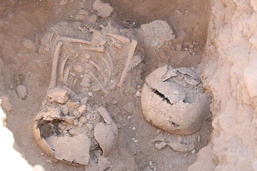 Restos encontrados en el poblado medieval de Ifach.