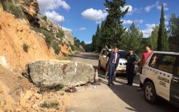 Moragues visita las zonas afectadas por las inundaciones del pasado fin de semana en Ademuz