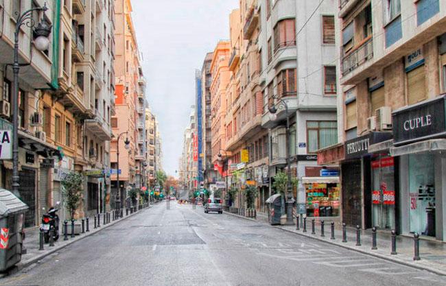 Calle de San Vicente, Valencia.