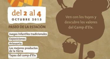 Gastronomía, artesanía, música y actividades infantiles en la Fireta del Camp d'Elx