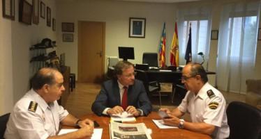 Moragues se reúne con el Jefe Superior para analizar el intento de fuga en el CIE de Valencia