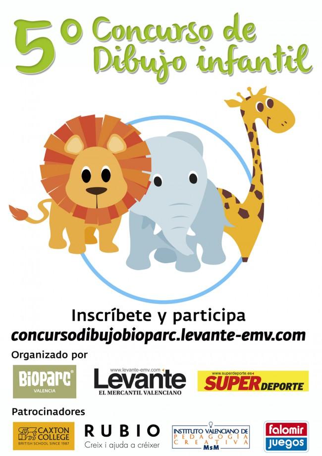 cartel V concurso dibujo BIOPARC - LEVANTE - SUPER web