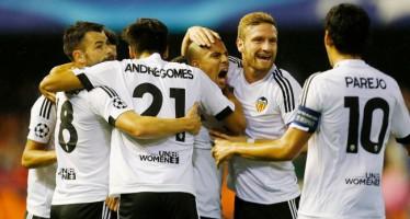 El Valencia CF salva el partido contra el Gent con apuros (2-1)