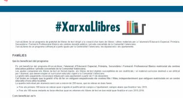 Educació habilita a la seua web un espai d'informació del programa #XarxaLlibres