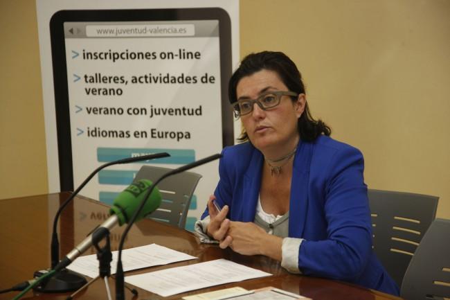 Beatriz Simón, durante una rueda de prensa de la anterior legislatura. Foto de archivo