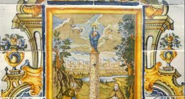 El Museo del Azulejo de Onda exhibe el retablo cerámico de l'Alcora 'La Virgen del Pilar entre san Jaime y san Pascual'