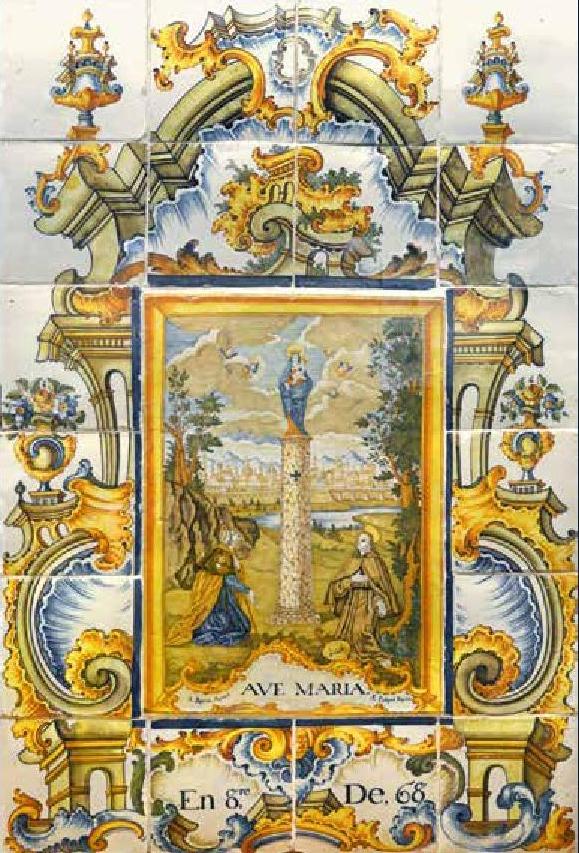 El museo del azulejo de onda exhibe el retablo cer mico de - Azulejos el pilar ...