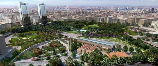 Figuración virtual del futuro Parque Central, para el que el túnel pasante es fundamental.