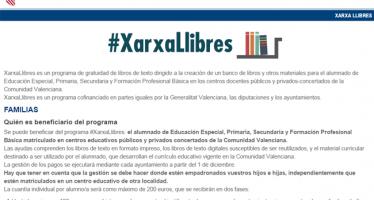 Educación completa la concesión de las ayudas de XarxaLlibres a los ayuntamientos