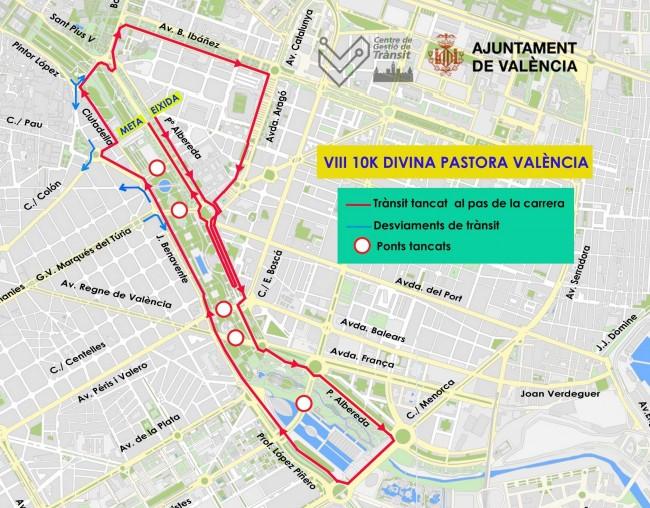 0108Talls trànsit 10K Divina Pastora