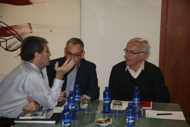 Ribó, reunido con el presidente de la Autoridad Portuaria de Valencia, Aurelio Martínez.