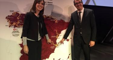 Diana Morant asiste a la presentación de La Vuelta Ciclista a España 2016 en Santiago de Compostela