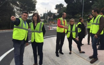 Aguar y Peris reconocen las obras de mejora de la carretera que une Gandía con Barx