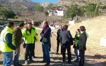 La Diputación estabiliza una ladera para concluir la mejora de la carretera de Bugarra a Gestalgar