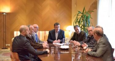 El Presidente de les Corts recibe a la dirección de PYMEV