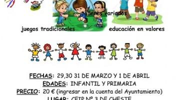 El Ayuntamiento de Cheste organiza la Escuela de Pascua municipal