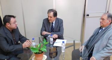 El director general de Fomento del Autogobierno recibe al nuevo decano de la RACV