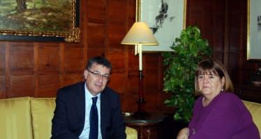 El Presidente de les Corts visita a su homóloga balear, Xelo Huertas