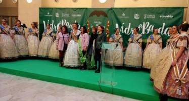 Las comisiones reciclan en la campaña Vidre a Banda de Fallas más de 110 toneladas de vidrio