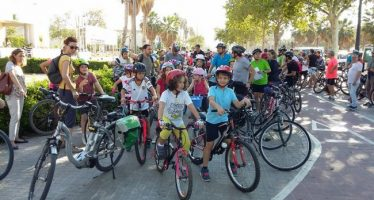 El concejal de movilidad ha acompañado a los alumnos del CEIP Luis de Santàngel en su Día de la Bici