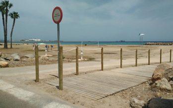 El nuevo acceso de embarcaciones ya está operativo en la playa de Almassora