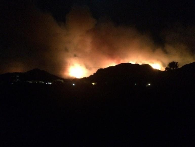 Incendio de Carcaixent esta noche.