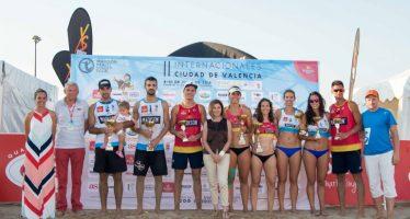 Mesa/Monfort y Florian/Lozano ganan el Madison Beach Volley en La Malvarrosa