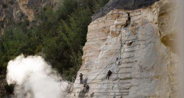 Sensores en la ladera de Cortes de Pallás avisarán de nuevos deslizamientos