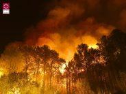 La Sierra de Espadán, amenazada por el incendio de Artana