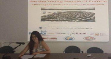 Una alumna de Unimel, portavoz en el Parlamento Europeo