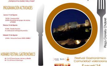 Hoy se inaugura en Sagunto el I Festival Gastronómico Comunidad Valenciana