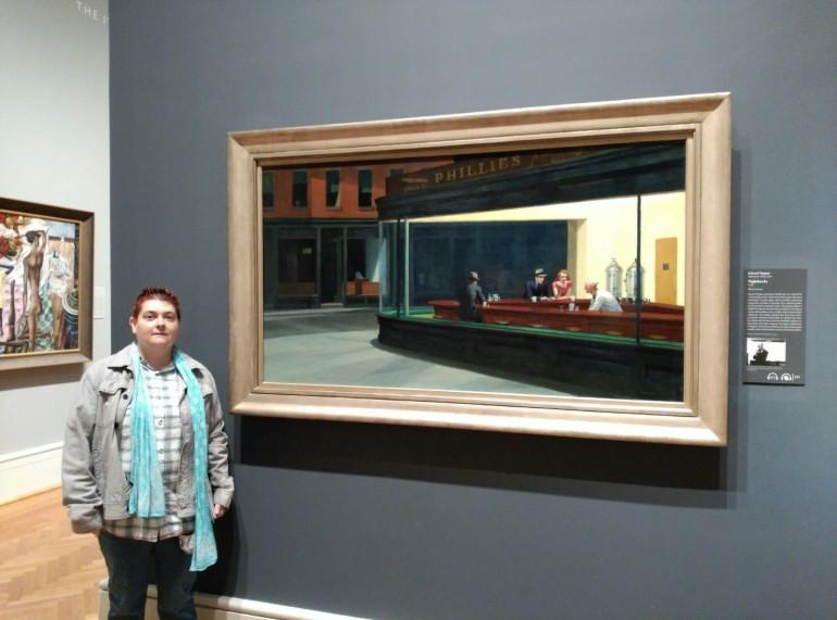 Junto a la obra icono del lugar, 'Nighthawks', de Edward Hopper