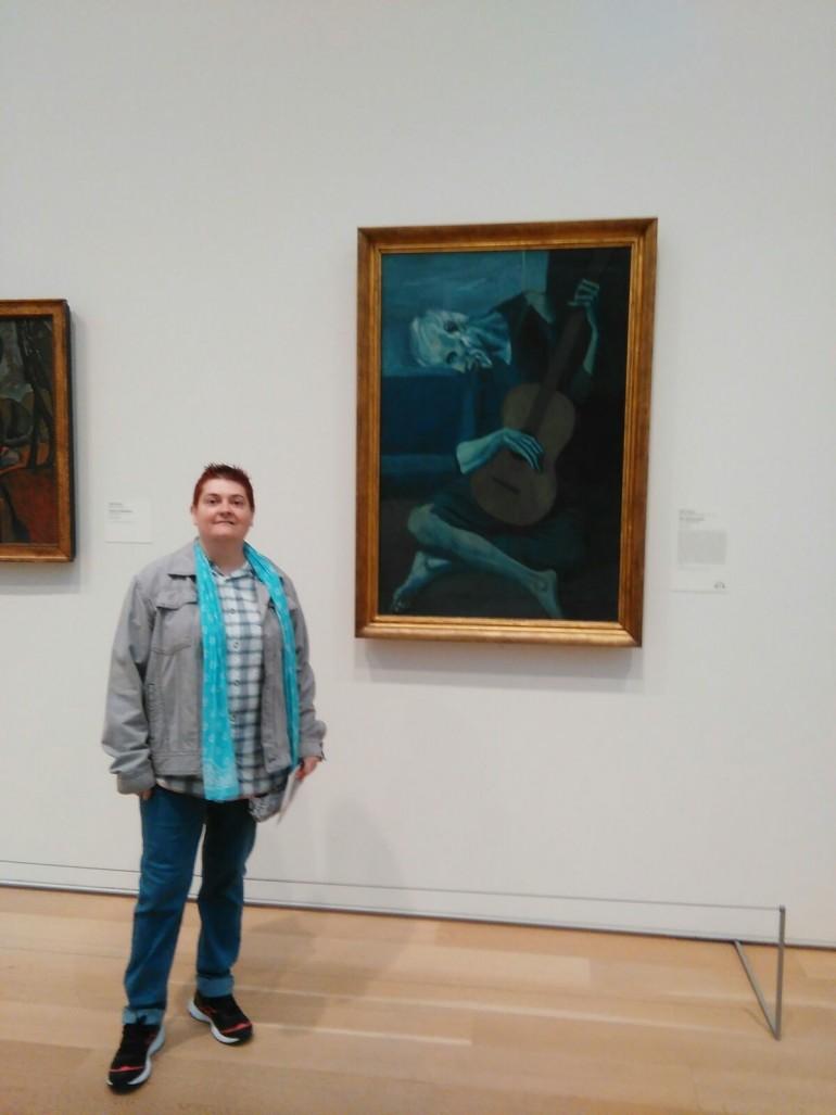 'El guitarrista ciego', del genial pintor español Pablo Ruiz 'Picasso'. Había que verlo.