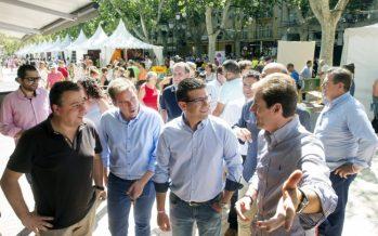 Jorge Rodríguez visita la Fira d'Agost de Xàtiva